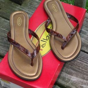 Talbots Brown Tortoise Sandals - Flip Flops Size 6